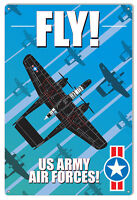 Fly US Army Aviation Reproduction Metal Sign 12x18