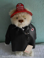 1999 TEXACO THE FIRE CHIEF JOINTED BEAR WITH METAL FIRE HAT THIRD EDITION