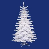 Vickerman 12' Pre-lit Crystal White Artificial Christmas Tree - Clear Lights