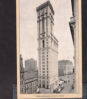 New York Times Square 1905 Hotel Knickerbocker Flatiron Singer Sewing Trade Card