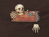 Skeleton Door/Wall Sign with the words