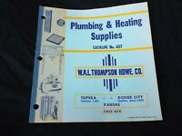 Vintage 1950s PLUMBING & HEATING Sales Catalog W.A.L Thompson Hardware Co Kansas