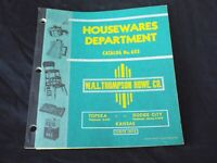 Vintage 1950s HOUSEWARES DEPARTMENT Catalog W.A.L Thompson Hardware Co. Kansas