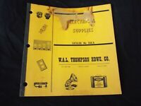 Vintage 1950s ELECTRICAL SUPPLIES Catalog W.A.L Thompson Hardware Co. Kansas