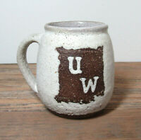 Vtg VIRGINIA WEISEL studio pottery UW mug University of Washinton free US ship