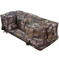 Camo 4-Wheeler ATV Rear Rack Bag Storage Luggage & Gear Bag with Cushion