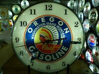 Restored Chief Gasoline Lighted Pam Advertising Clock Sign Gas & Oil Automobilia