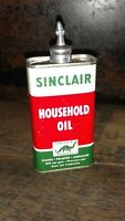 Vintage SINCLAIR Lead Top 4oz Oil Can Handy Oiler Tin EXC COND! Gas Sign