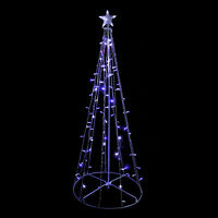 Sienna 5' Blue White LED Lighted Outdoor Twinkling Christmas Tree Yard Decor