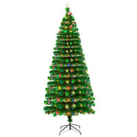 7.5' PVC Artificial Christmas Tree with 260 LED Lights & Stand Home Decor