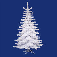 Vickerman 9' Pre-lit Crystal White Artificial Christmas Tree - Clear Lights