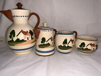 Vintage Torquay Motto Ware Set - Cottage