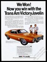 1973 AMC Javelin Trans Am Victory car George Follmer Roy Woods photo print ad