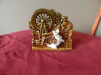 Vintage McCoy Spinning Wheel Pottery Planter with Scottie Dog & Cat