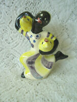 VINTAGE SHEARWATER POTTERY~1993 CHICKEN LADY WOMAN FIGURINE~5-1/2