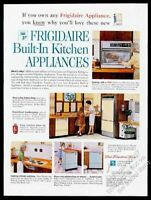 1962 Frigidaire Flair built-in oven cooktop dishwasher photo vintage print ad