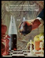 1964 Tab diet soda bottle and chess board pieces photo Coke vintage print ad