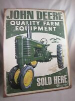 VinTAGE STYLE JOHN DEERE FARM  EQUIPMENT SOLD HERE TIN METAL SIGN MADE IN USA