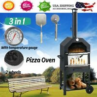 Wood Fired Garden Oven Includes Pizza Stone From Wood Pellet Pizza Oven W/ Wheel