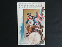 1890 Lewisburg Pa. Union County Excelsior Orchestra Black Americana Trade Card