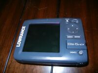 Lowrance Elite-5 HDI Fish Finder Untested