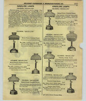 1927 PAPER AD 4 PG Coleman Quick Lite Gasoline Gas Lamp Arc Light Lantern Repair