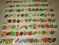 Lot of 100 Different Old Vintage 1940's-70's VEGETABLE SEED PACKETS - EMPTY