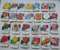 Wholesale Lot of 1,300 Old 1940's-50's - FLOWER SEED PACKETS - 26 Diff. - Empty