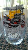 Caterpillar Tractor Pepsi Tumbler First in Series. Glass