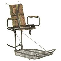 Guide Gear Deluxe Hang On Tree Stand Padded Armrests Flip Up Footrest Large NEW
