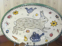 Moore hand painted large Easter platter 18
