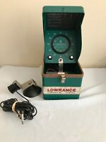 Vintage Lowrance Fish Finder Locator Lo-K-Tor  LFP-300D With Transducer