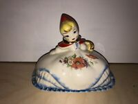 Hull Pottery Co. Vintage Little Red Riding Hood Covered Butter Dish