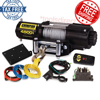 Offroad 12V Electric Winch Steel Cable Kit For ATV/UTV 4500lbs w/Wireless Remote