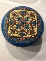Longwy Pottery Vintage Enamel Trinket Covered Box Made in France