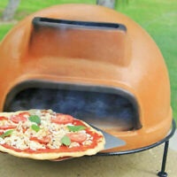Outdoor Pizza Oven Wood Fired Rustic Clay Burning Brick Floor Counter Best Rated