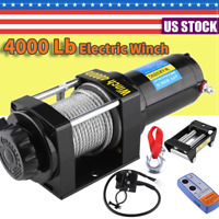 4000 Lb Electric Winch 12V ATV Towing Truck Trailer Boat Pound 2 Ton Safely