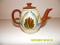 Torquay Pottery Mottoware Early One Cup Scandy Tea Pot c.1910 or Earlier