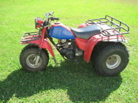 RARE 1984 HONDA ATC  200ES  3-WHEELER ATV ELECTRIC START REVERSE RUNS NR