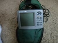 Eagle Fish Mark 320,Powers on, W/Bracket/All wires wires/accessories!