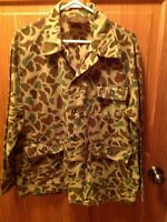 VINTAGE CALIBER SPORTSMAN'S APPAREL Camouflage Hunting Shirt Mens SzL Cotton EUC