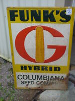 Funk's G Hybrids  Columbiana Seed Company dealer sign-- HUGE-- 42