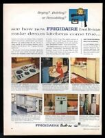 1957 Frigidaire French Door wall oven cooktop folding unit pix vintage print ad