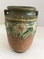 Roseville Pottery Dahlrose 360-6 Vase PERFECT  Brown/Green & Yellow  1928