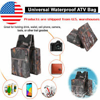 Universal Motorcycle ATV Fuel Tank Waterproof Cargo Storage Saddle Side Bag USA