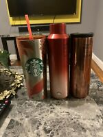 NEW STARBUCKS 16 oz STAINLESS STEEL INSULATED METALLIC Mix Color FLORALTUMBLER