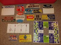 15 Vintage 60's/70's Hardware Store Retail Display Signs,Box Lids,Poster,Stanley