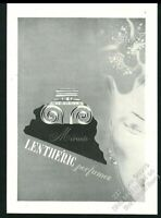 1941 Lentheric Miracle perfume bottle art vintage print ad