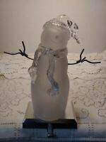 Holiday Light Up Acrylic Snowman Stocking Holder Hook For Mantel