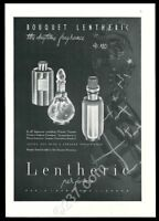 1940 Lentheric Shanghai Tweed A Bientot perfume bottle art vintage print ad